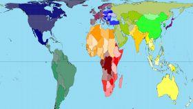 Diseño de mapa de Peters.