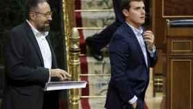 Rivera y Girauta, en el Pleno del Congreso.