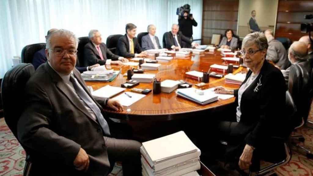Reunión del pleno del Tribunal Constitucional
