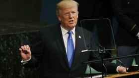 Trump durante su discurso en la ONU