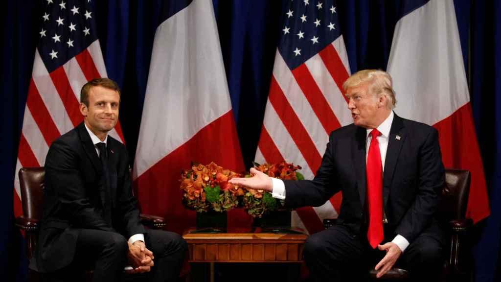 Trump y Macron se han reunido este martes en el plenario de la ONU