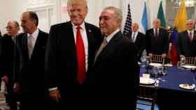 Trump, junto al presidente brasileño Michel Temer.