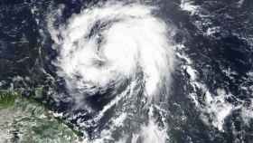Imagen de satélite del huracán María.