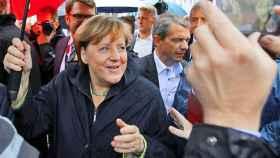 Angela Merkel en el acto de Torgau.