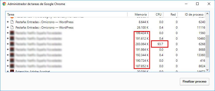 uso memoria cpu minar bitcoin web