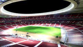 Imagen del interior del Wanda Metropolitano durante su construcción.