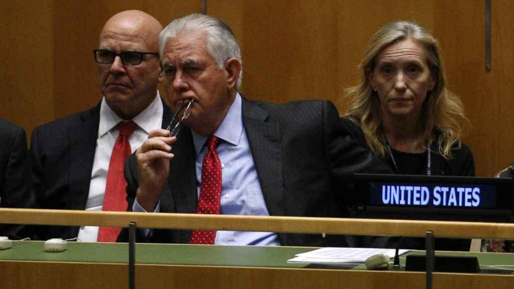Rex Tillerson, durante una sesión en Naciones Unidas.