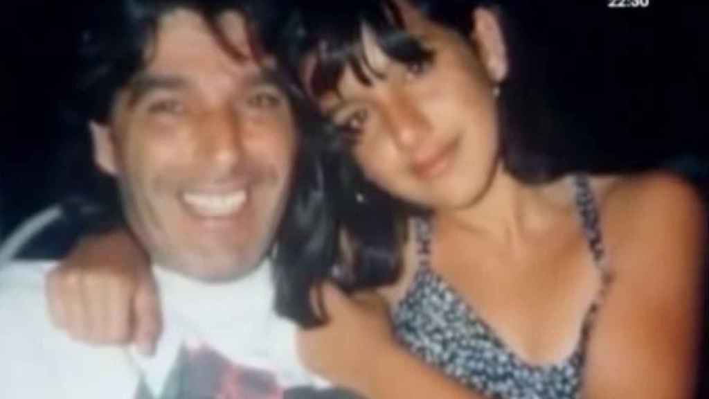 Manuela junto a su padre, un malagueño de etnia gitana emigrado
