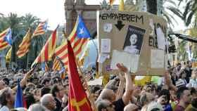 Manifestación independentista este jueves en Barcelona.