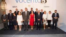 Foto de familia de la gala del 15 aniversario de Vocento.