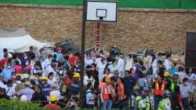 Las labores de rescate continúan en el Colegio Enrique Rebsámen, donde se encuentra Frida.