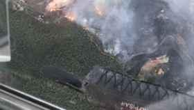 Imagen del incendio ocurrido en Gran Canaria.