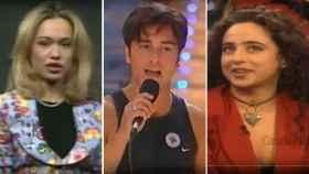Patricia Conde, David Bustamante y María Patiño.