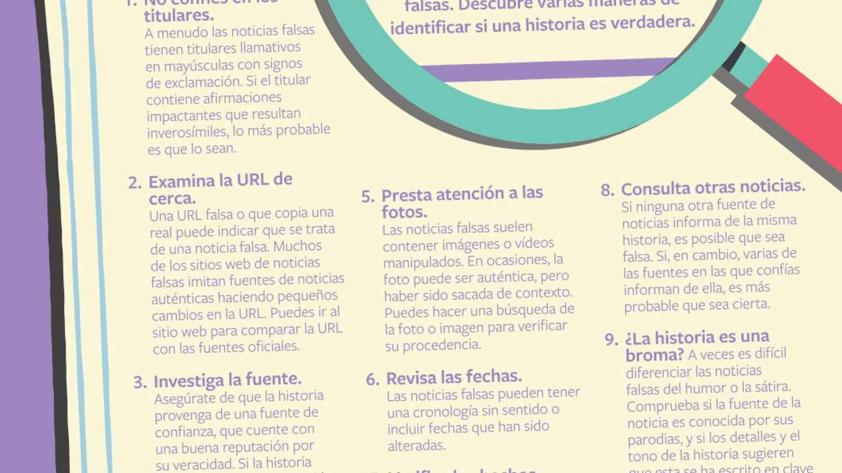 Consejos para no caer en noticias falsas