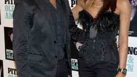 Antonio David junto a Olga antes de un concierto.