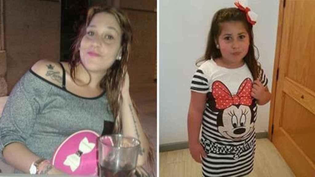 La sevillana Rocío, de 26 años,  y su hija, también en paradero desconocido.