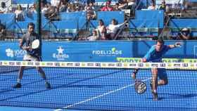 Sanyo Gutiérrez y Paquito Navarro en su semifinal.