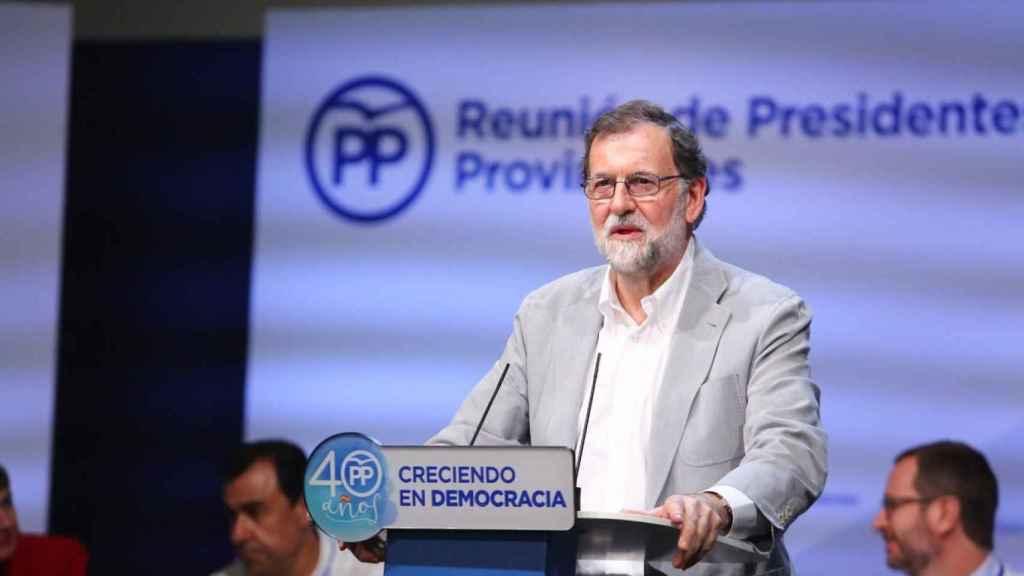 Rajoy, en Palma, durante el inicio del curso político.