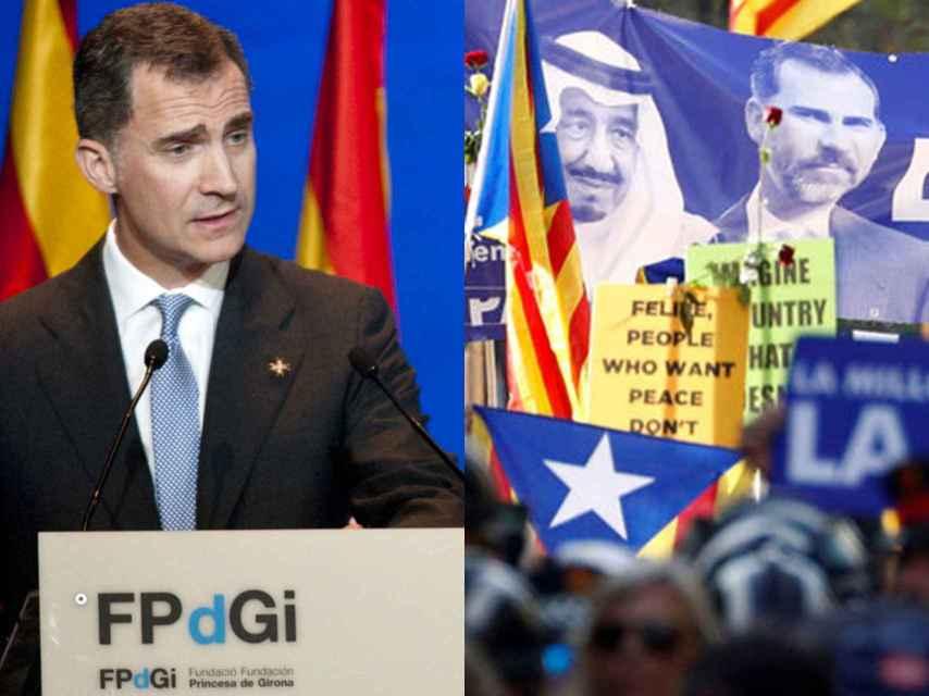 Felipe VI en su última presencia en Girona y la manifestación de Barcelona tras los atentados.