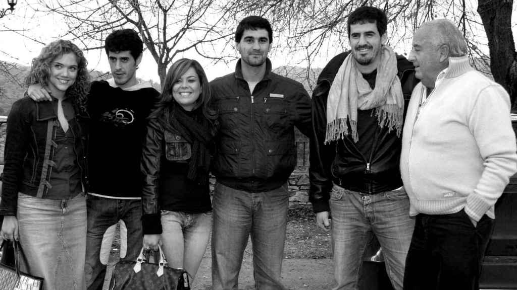 La familia Janeiro, en enero de 2008.