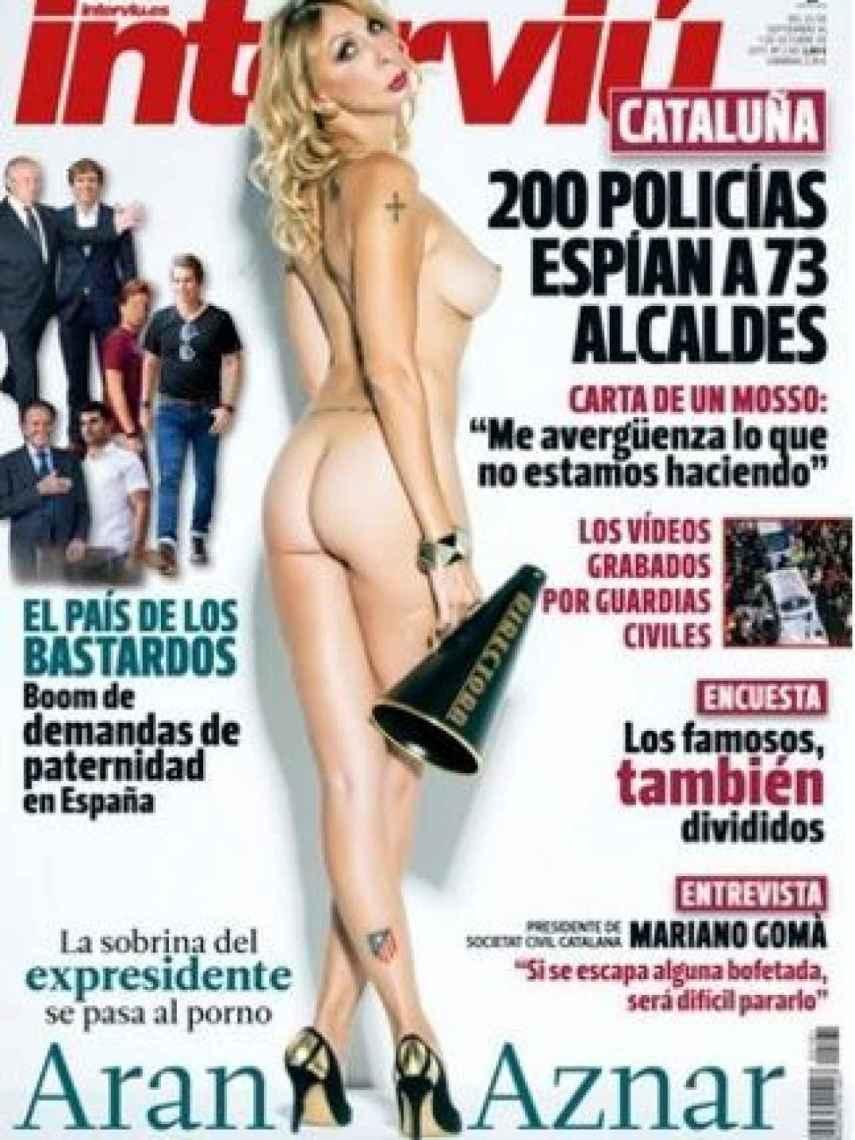 Aran Aznar, en la portada de Interviú.