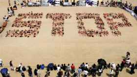 AnimaNaturalis en una protesta contra el maltrato animal.