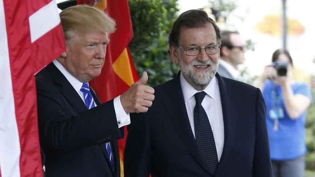 Trump y Rajoy, antes de su encuentro en la Casa Blanca, en septiembre de 2017.