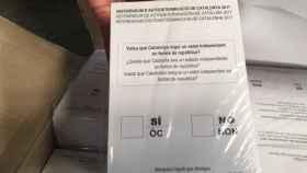 Papeletas destinadas al 1-O incautadas por la Guardia Civil