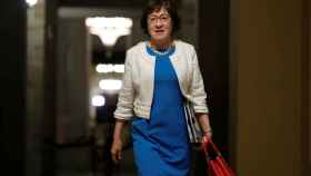 Susan Collins, en los pasillos del Capitolio.