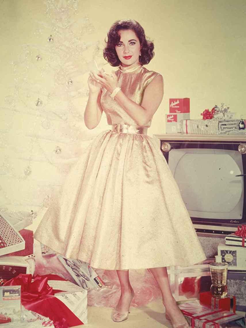 Elizabeth Taylor en un spot publicitario de los años cincuenta.