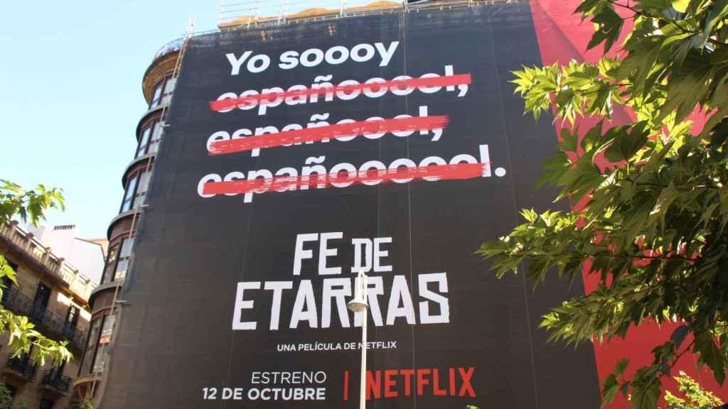 Cartel de Netflix para promocionar 'Fe de Etarras'