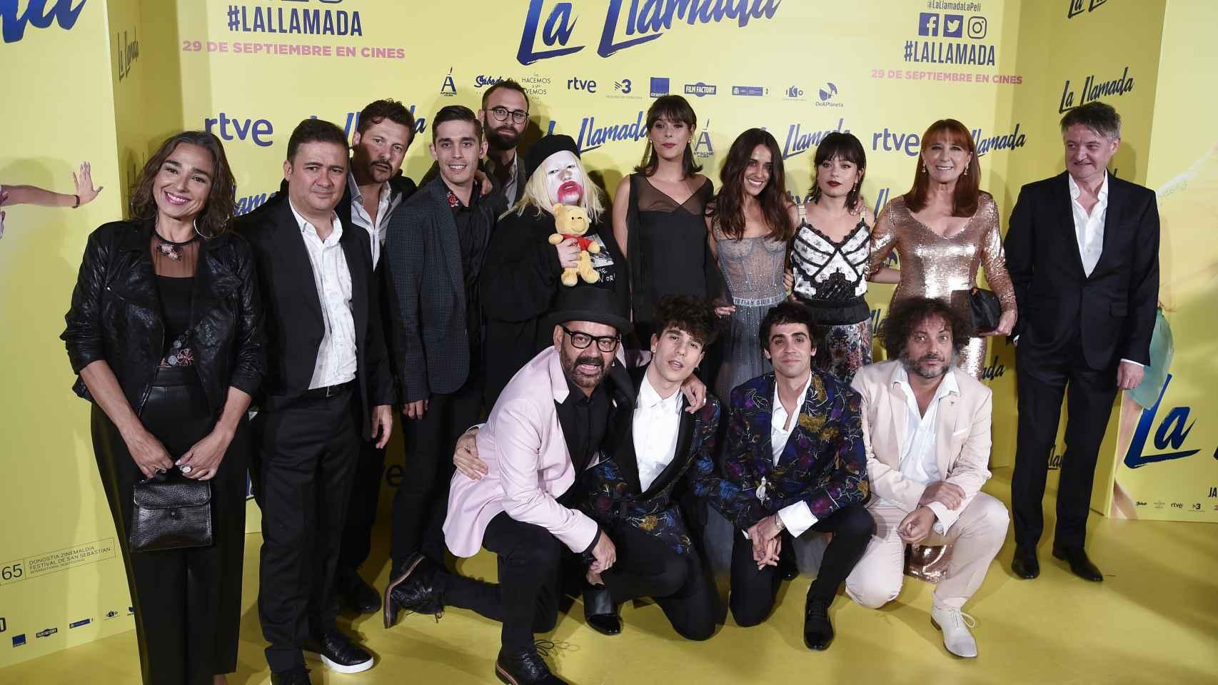 Los asistentes al estreno de la película 'La Llamada'