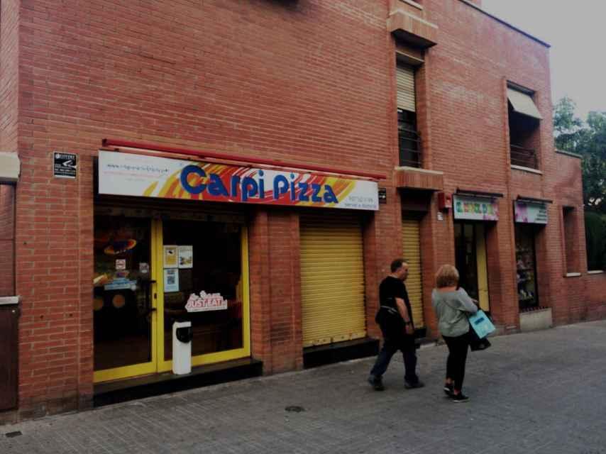 La pizzería Carpi, en la que trabajaba Paula.