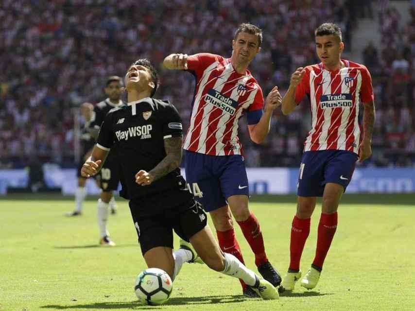 Gabi, durante el partido contra el Sevilla.