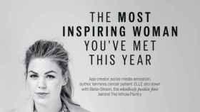 Publicidad de la revista Elle con la falsa historia de la bloguera.