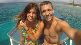 Laura Matamoros y Benji Aparicio, durante sus vacaciones este verano.