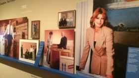 Instalación de la exhibición de Carmen Cervera en el Museo Thyssen-Bornemisza.