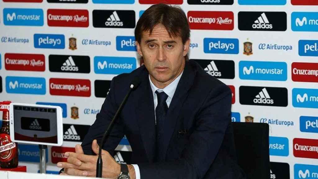 Julen Lopetegui durante la rueda de prensa de este viernes. Foto: sefútbol.com