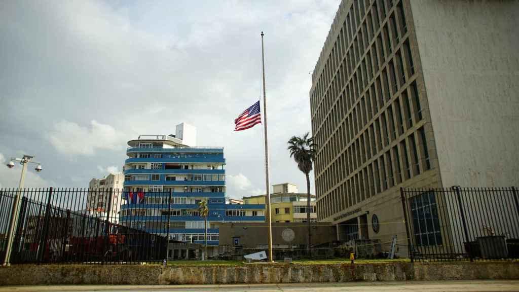 Exterior de la Embajada de EEUU en La Habana en una imagen de archivo