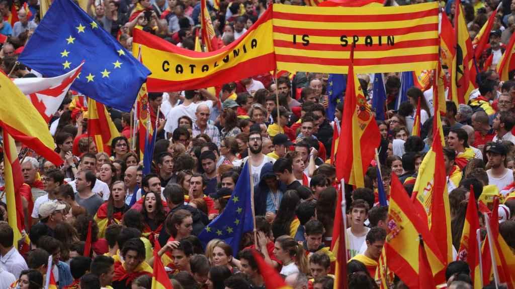 Imagen de una de las manifestaciones de SCC en Barcelona, este mes de octubre.