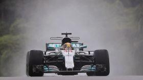 Hamilton, durante el Gran Premio de Malasia.