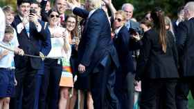 Trump, en una visita oficial.