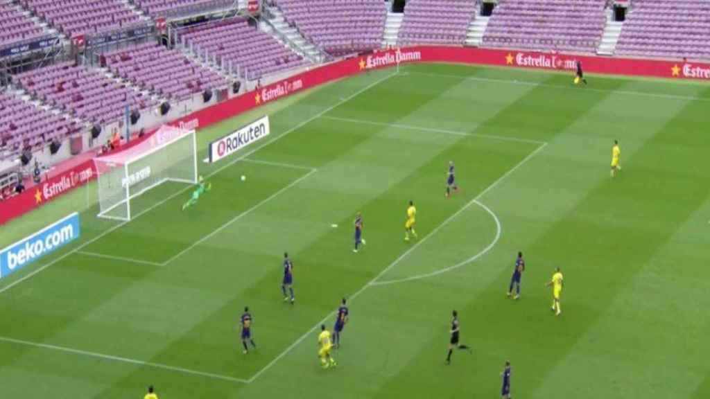 Barça - Las Palmas, a puerta cerrada. Foto: Twitter (@elchiringuitotv)