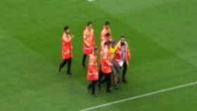 Busquets celebra su gol ante Las Palmas. Foto: Twitter (@elchiringuitotv)