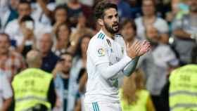 Isco celebra su gol ante el Espanyol