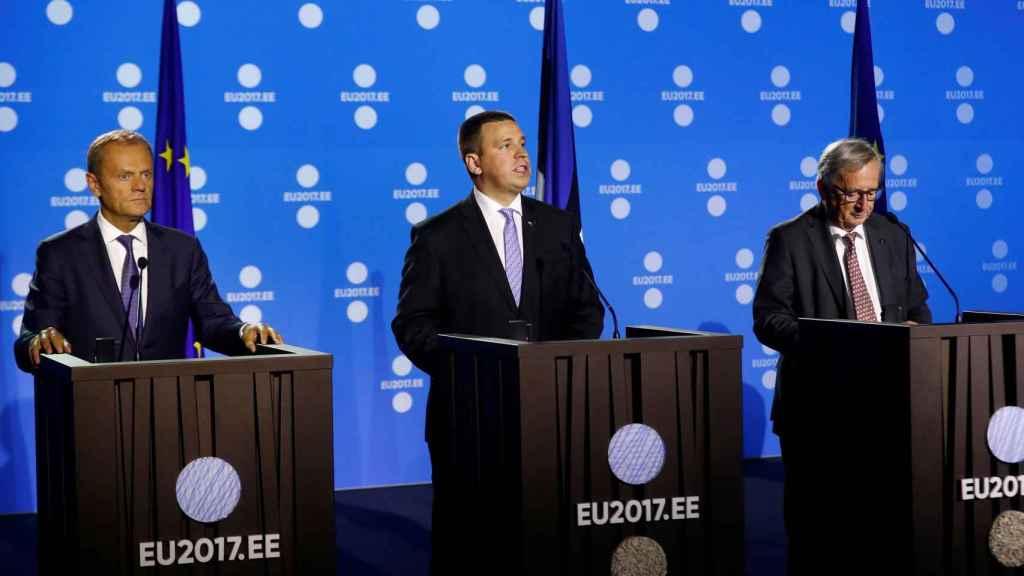 Los presidentes del Consejo y de la Comisión, Donald Tusk y Jean-Claude Juncker
