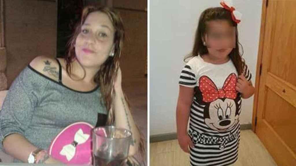 Sandra, la joven desaparecida en Sevilla, y su hija.