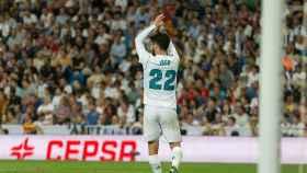 Isco dedica su gol al Bernabéu. Foto: Pedro Rodríguez / El Bernabéu