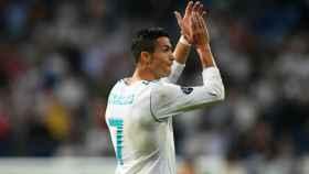 Cristiano agradece el apoyo al Bernabéu. Foto Twitter (@ChampionsLeague)