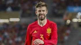 Gerard Piqué, en un partido con la Selección   Foto: Twitter (@ellarguero)
